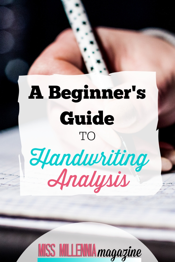 While you can still tell a lot about a person in print, there is more of an emotional connection in cursive writing so you get a more detailed read. There are five basic elements that I always look for in a person's handwriting: