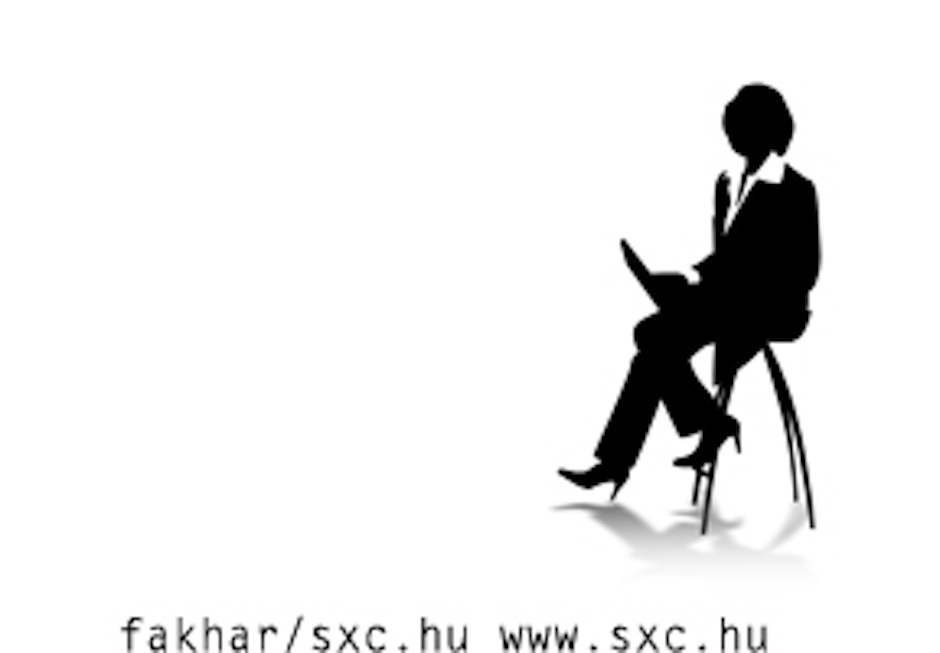 animated woman sitting in a chair