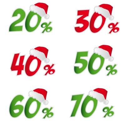 percentages wearing santa hats