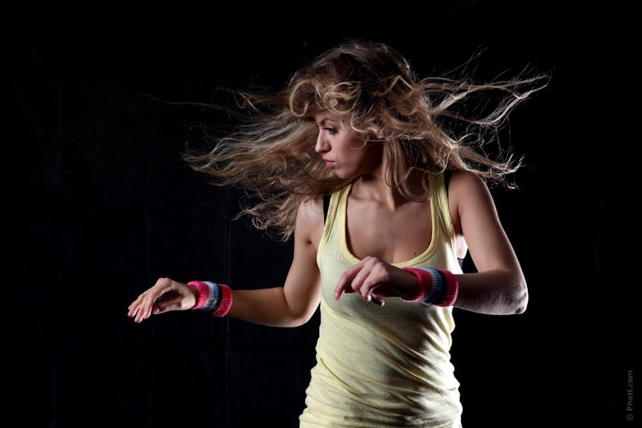 girl dancing in the dark