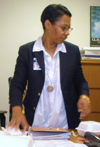 woman dressed in professional attire