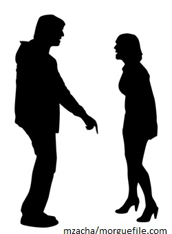 2 shadow figures arguing
