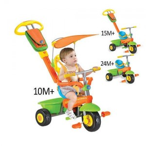 Smart Trike Plus - Green, Orange, Blue and Yellow