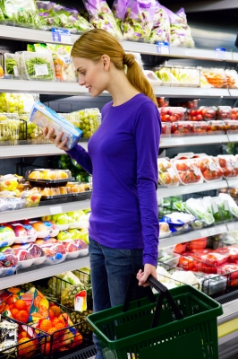 Woman Shopping at Market