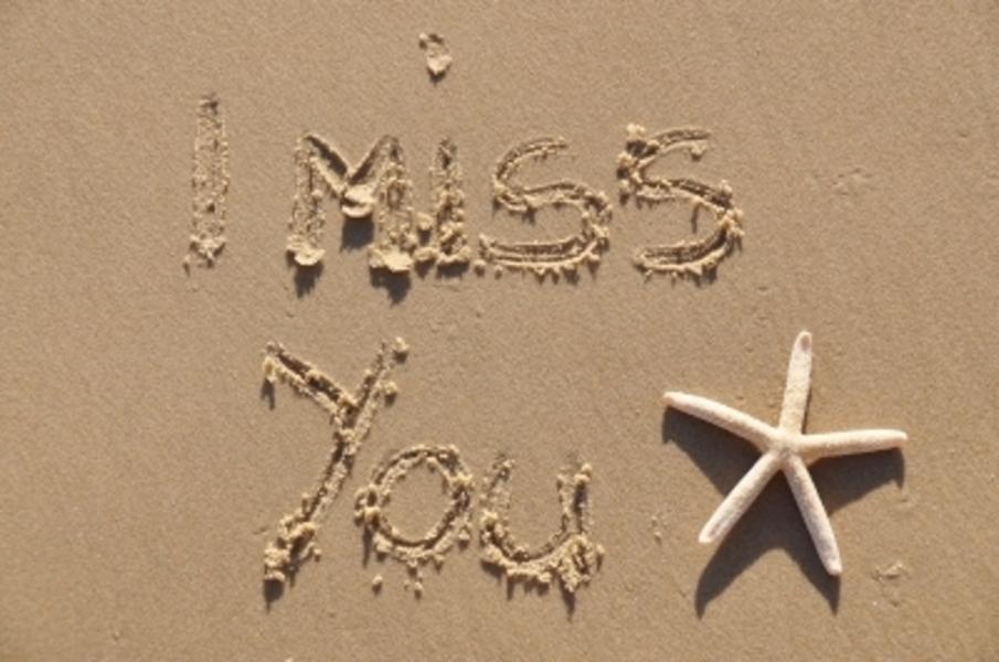writing on sand, I miss you