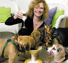 Pam Alerine with dogs