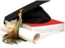 graduation cap on book, graduation cap