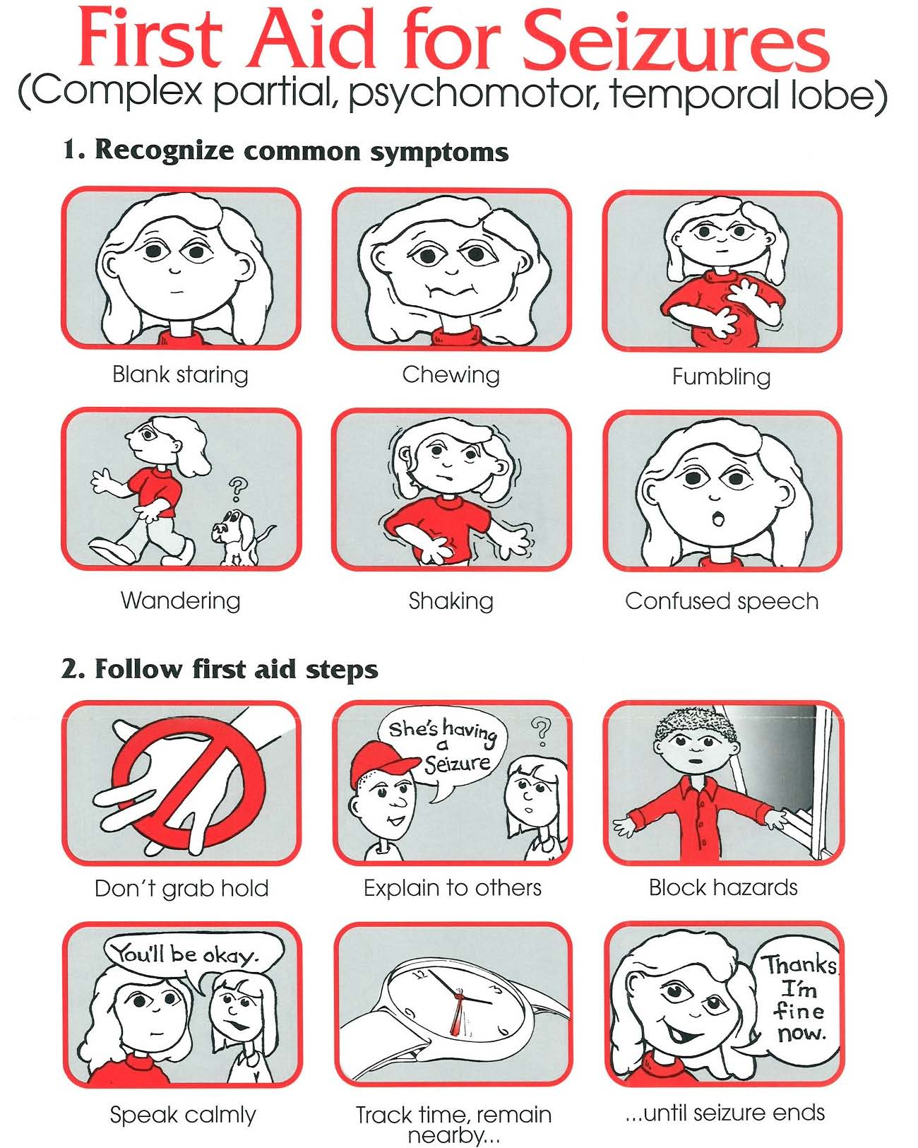 first aid for seizures how to
