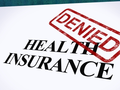 Health Insurance Denied Stamp