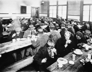 Depression-era soup kitchen