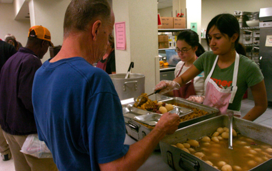 volunteer soup kitchen