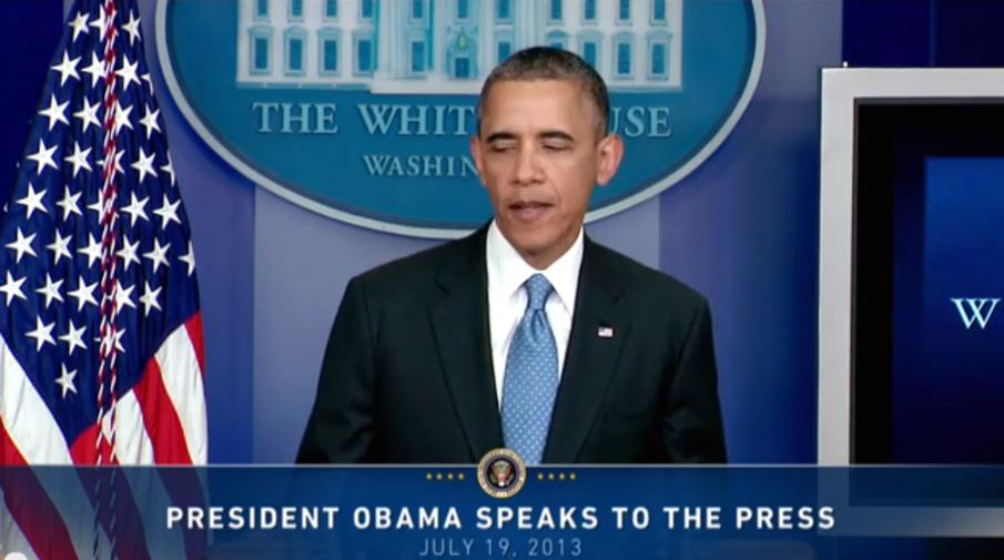 Obama addresses the Zimmerman verdict
