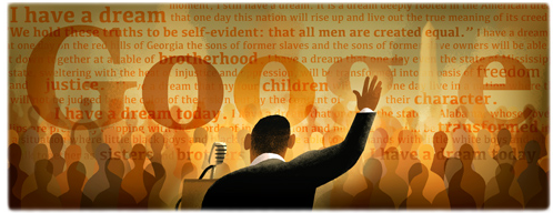 Today's Google Doodle honoring King's speech