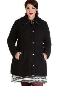 black coat, coat, plus size coat