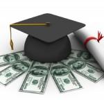student, graduation cap, graduation cap with money, money, diploma