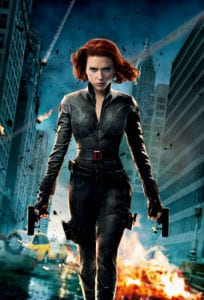 Natasha Romanova, aka Black Widow, from The Avengers
