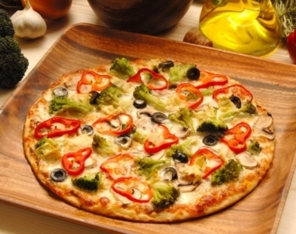 large veggie pizza