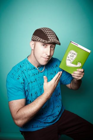 "Davy Rothbart and his book ""My Heart Is An Idiot"". Photo courtesy of sfgate.com."