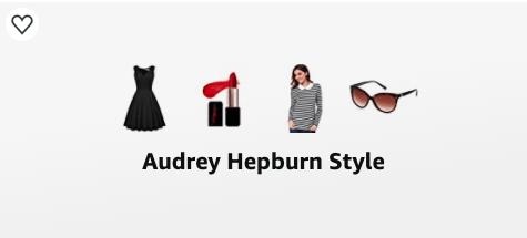 audrey hepburn style amazon list