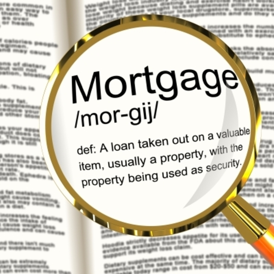 magnified dictionary definition of mortgage