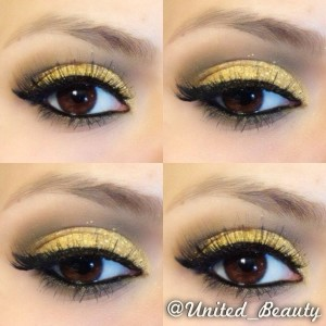 maybelline gold rush look