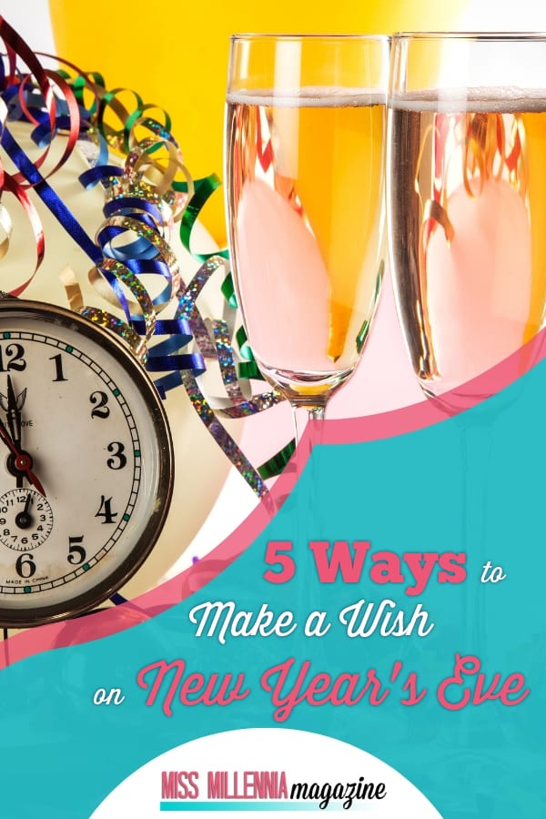 Celebrate and make a wish on New Year Eve with your family and friends. Feel the magic on this special day. Good luck and happy new year!