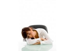 Woman Falling Asleep
