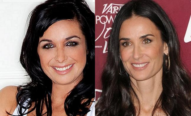Lisa Connell and Demi Moore