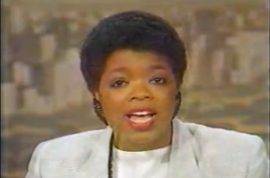 Oprah as Anchorwoman for ABC: Broadcast Television