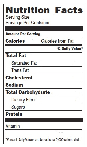 Nutrition label template playbestonlinegames for Nutrition facts table template