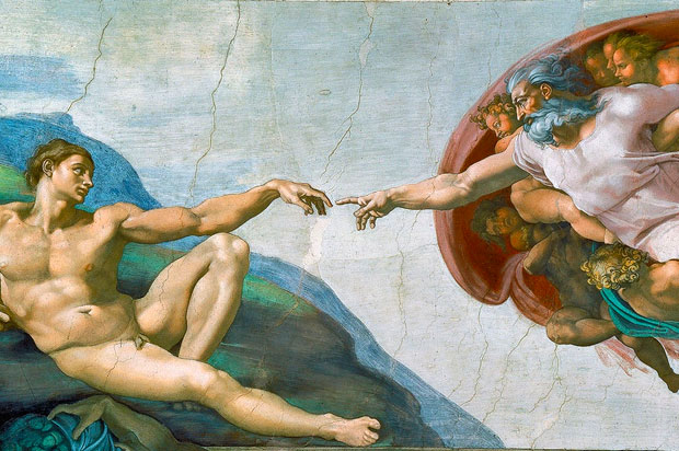 religious art Michelangelo's Creation of Adam