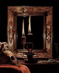 call spirits, mirror with candle