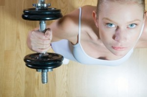 Girl with Dumbells