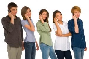 Teenagers on the Phone