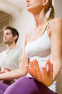 """""""Couple Sitting On Floor Doing Yoga"""" by Ambro"""