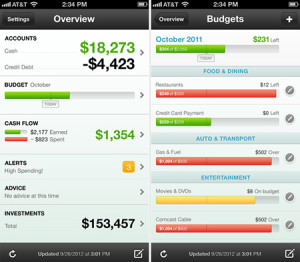 mint mobile app for budgeting