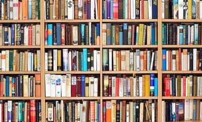 shelf full of fall reads
