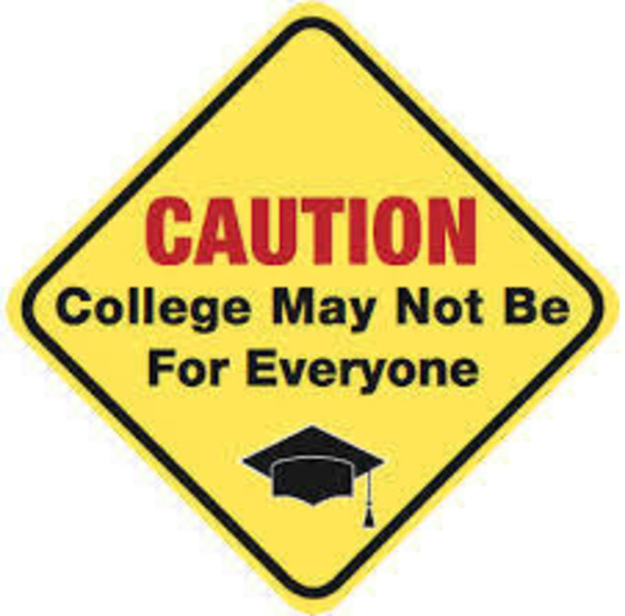 Caution college sign