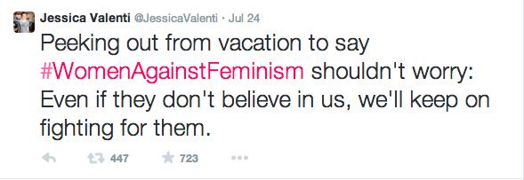 A post from feminist writer, Jessica Valenti
