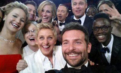 famous selfie from the oscars