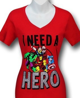 i need a hero marvel movie tshirt