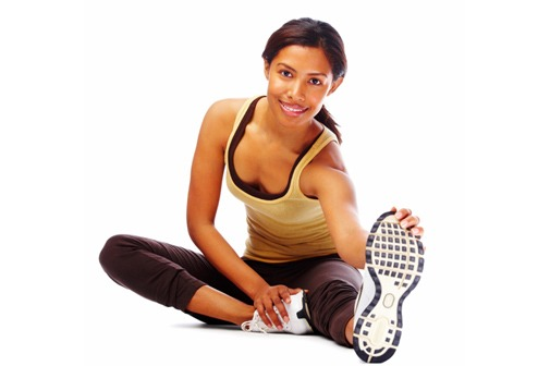 health woman stretching before exercise