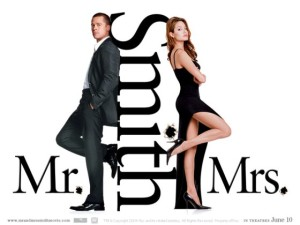 mr and mrs smith movies poster