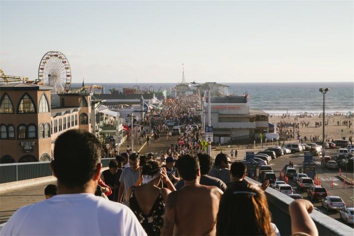 Coachella crowd in California