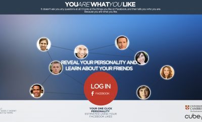 you are what you like website looks at facebook for your personality