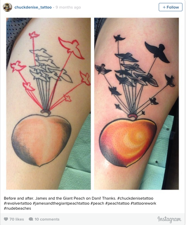 james and the giant peach tattoo