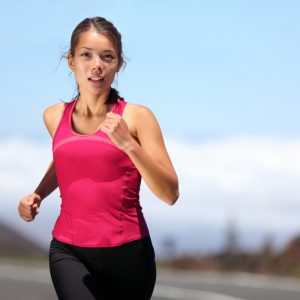 woman running to loose weight
