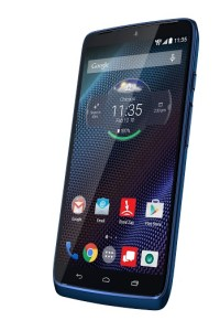 droid turbo blue front