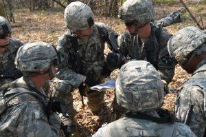Military huddle