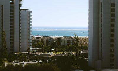 beach view from hotel window